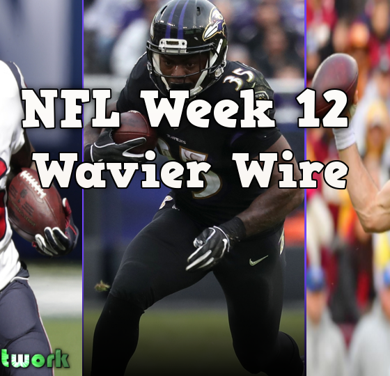 NFL Week12 Waiver Wire